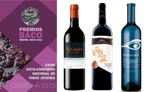 Tres Baco para los Vinos de DO Alicante