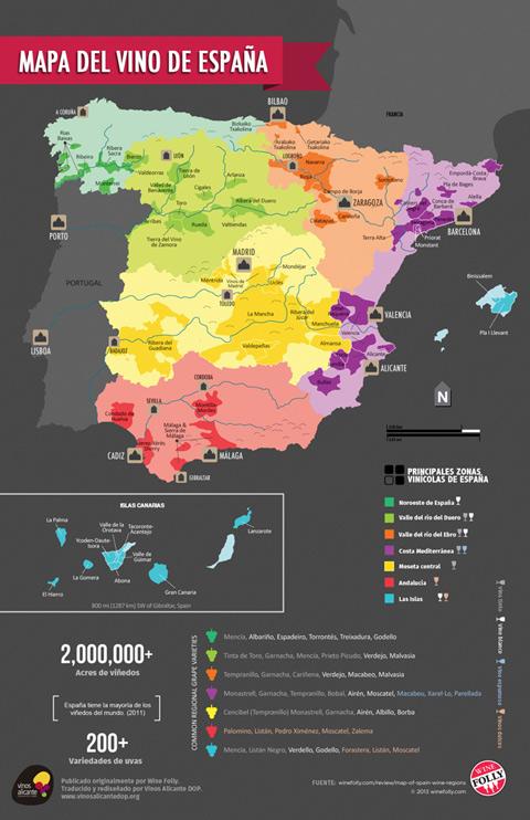 Vinos Alicante DOP  Mapa del vino de Espaa